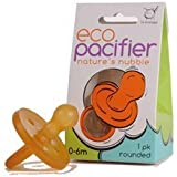 Ecopiggy Rounded Natural Pacifier (1pk) (0-6m)