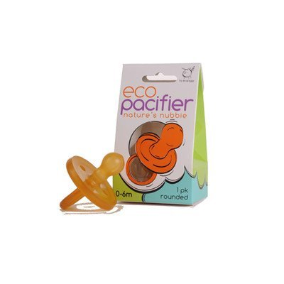 Ecopiggy Rounded Natural Pacifier 0 6m product image