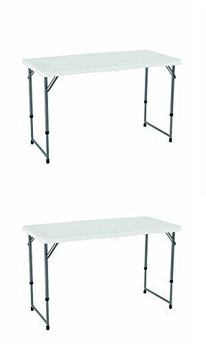 Lifetime 4428 Height Adjustable Folding Utility Table, 48...