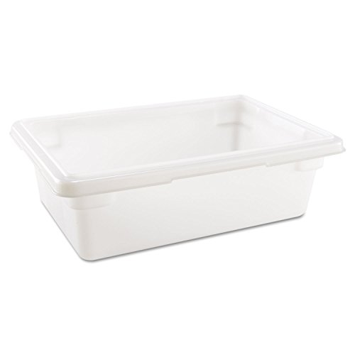 Rubbermaid RCP3509WHI Food/Tote Boxes 3.5gal 18w x 12d x 6h White by Rubbermaid Commercial