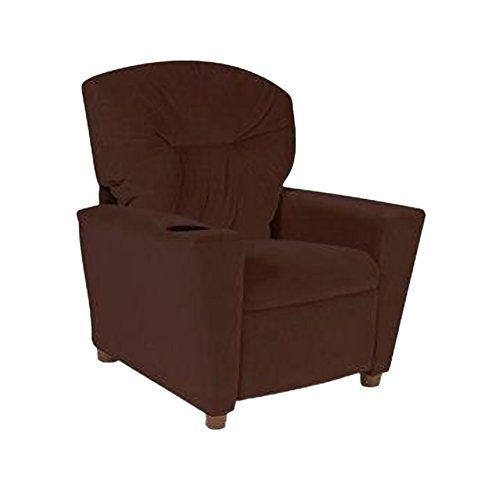Dozydotes Kids Child Theater Recliner Chair with Cup Holder - Chocolate Micro Suede (Dozydotes Cup Holder)