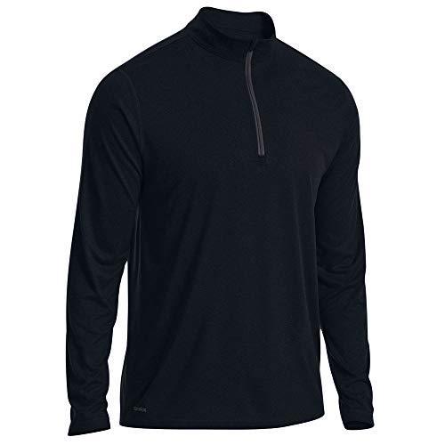 - Eastern Mountain Sports EMS Men's Techwick Essentials 1/4 Zip Pullover Black L