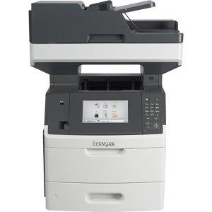 Lexmark MX710DE Laser Multifunction Printer - Monochrome - Plain Paper Print - Desktop - Copier/Fax/Printer/Scanner - 60 ppm Mono Print - 1200 x 1200 dpi Print - 60 cpm Mono Copy - Touchscreen LCD - 600 dpi Optical Scan - Automatic Duplex Print - 650 shee