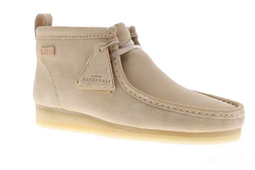 CLARKS Wallabee Boot Mens Beige Suede Casual Dress Lace Up Chukkas Shoes 7.5
