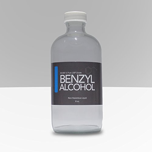 8oz Benzyl Alcohol USP Grade in Sterile Glass Bottle -