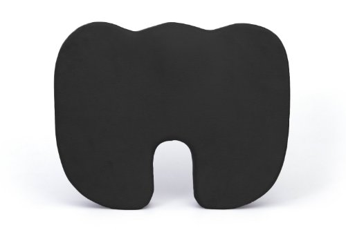 (Deluxe Comfort Coccyx Orthopedic Memory Foam – Sciatica Relief – Tailbone Support – Great for Car or Office – Seat Cushion, Black)