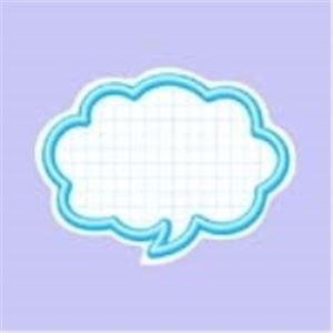 生活日用品 (業務用100セット) 抜型カード 16-4113 吹出中 ブルー 50枚 B074K1ZMSC