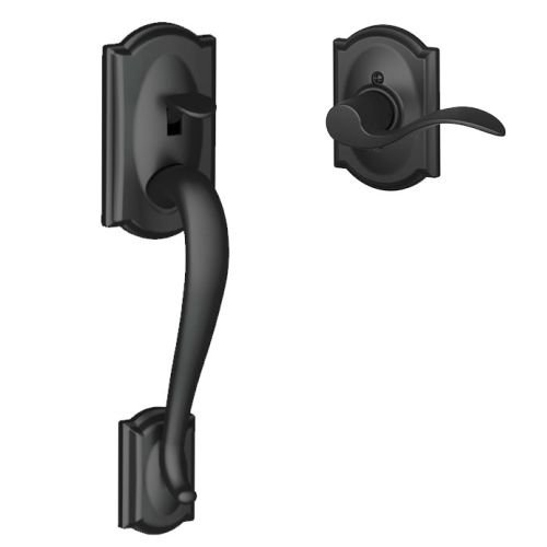 Schlage FE285-CAM-ACC-CAM-LH Camelot Lower Handle Set for Electronic Keypad with, Matte Black