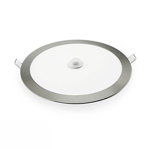Downlight LED empotrable plata con sensor de presencia 18W: Amazon.es: Bricolaje y herramientas