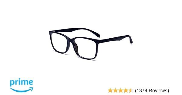 bdea0b429a43 Amazon.com: ANRRI Blue Light Blocking Glasses for Computer Use, Anti  Eyestrain UV Filter Lens Lightweight Frame Eyeglasses, Black, Men/Women:  Electronics