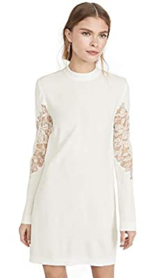 Dion Lee Women's Lace Applique Mini Long Sleeve Dress