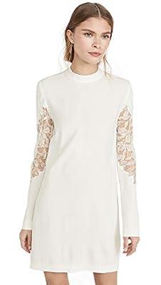 Dion Lee Women's Lace Applique Mini Long Sleeve Dress