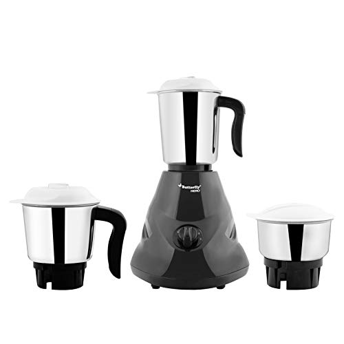 Butterfly Hero Mixer Grinder, 500W, 3 Jars (Grey)