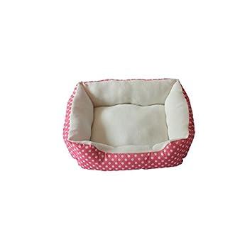 Teddy Imprint Caseta perro bonitas mascotas Punk tiert mascotas Fosos VIP boomi Chihuahua pequeño Perros Nest con alfombrilla: 50 * 40 * 10 CM/Color Rosa: ...