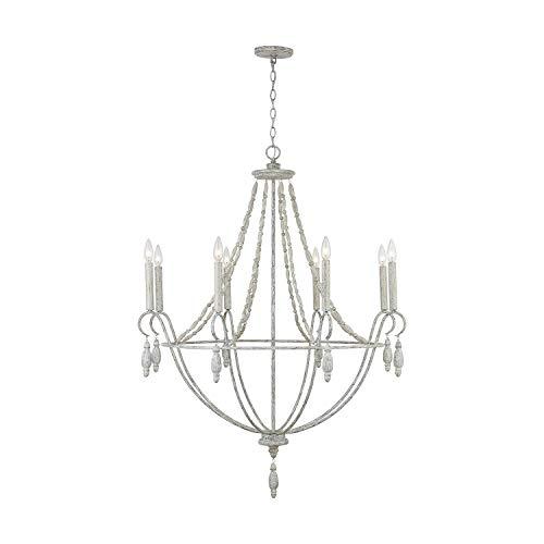 (Capital Lighting Fixtures 432881MS Signature 8 Light 36 inch Mystic Sand Chandelier Ceiling Light)