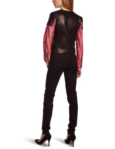 Print American Blouson Retro Femme Noir Kilie black U1YPq1gR