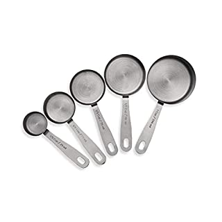 husMait Stainless Steel Measuring Cups - 5 Piece Heavy Duty Measuring Cup Set for Dry Foods, Spices or Liquids