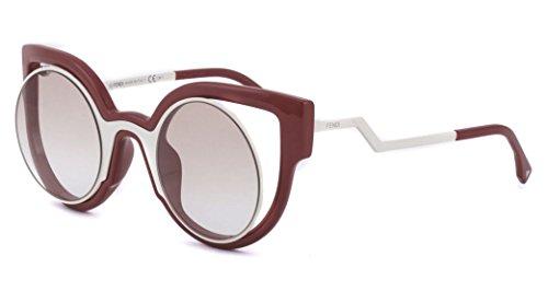 Fendi PARADEYES FF 0137/S NT4/1M Cream Red/Brown Gradient Sunglasses