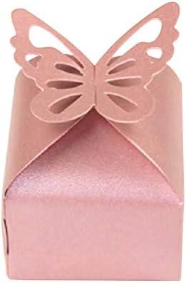 Toyvian Caja de Dulces de Mariposa Hueca Empaquetado de Papel ...