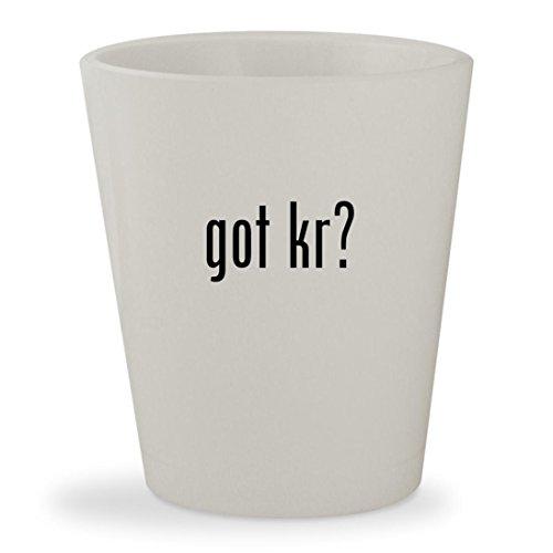 got Kr? - White Ceramic 1.5oz Shot Glass