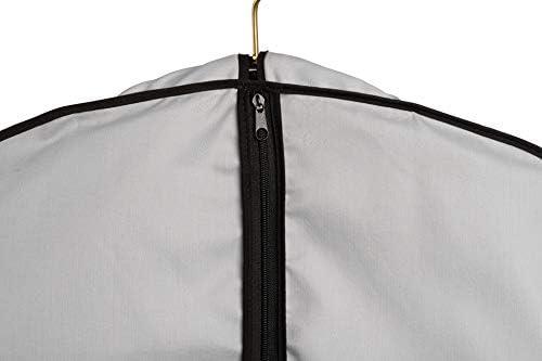 "Fur Coat Storage Garment Bag Grey Cotton Poplin Breathable 60/"" Long"