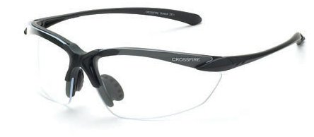 12 Pack Crossfire 924 Sniper Safety Glasses Clear Lens - Matte Black Frame