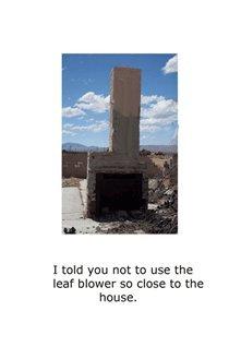Blank Notecard - Leaf Blower