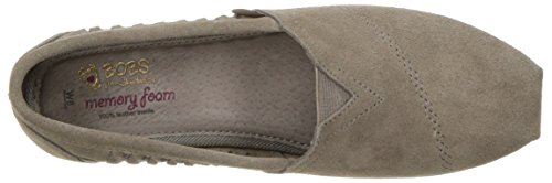 Skechers Bobs Womens Luxe Bobs-boho Crown Flat, Taupe, 10 M Us