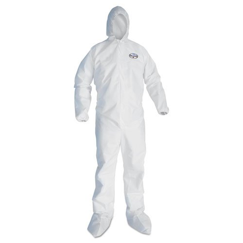 A45 Prep & Paint Coveralls, White, 3X-Large, 25/Carton by Kleenguard