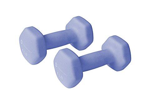 - GYMENIST Pair of Dumbbells Set of 2 Soft Non Slip Grip Dumbbells Pair Covered with Neoprene (4 LB)