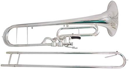 SUERTE F キー コントラバス トロンボーン 銀メッキ ケース付き マウスピース 楽器 プロフェッショナル
