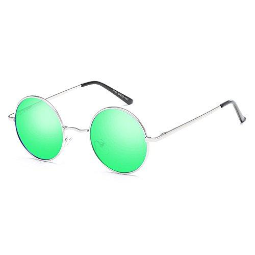 Polarized Eyewear Silverboxgreenfilm Metal Sun Rétro Lunettes Unisexe FXxHAqEwST