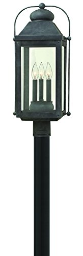 Post Lights Hinkley Lighting - Hinkley 1851DZ Americana Three Light Post Top/Pier Mount from Anchorage collection in Bronze/Darkfinish,
