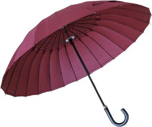 24 bones umbrella glass fiber (manufactured by DuPont water-repellent) Wine color from JAPAN by ottostyle