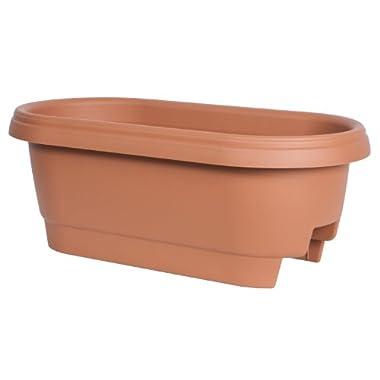 Fiskars 24 Inch Deck Rail Planter Box, Color Clay (477241-1001)