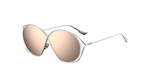 (New Christian Dior Stellaire 2 010/SQ Palladium/Grey Pink Sunglasses)