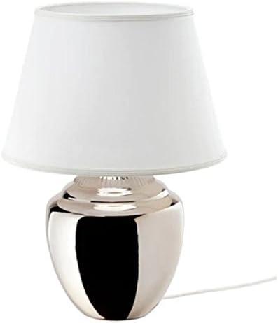 IKEA RICKARUM - Lámpara de mesa (47 cm, A+), color plateado ...