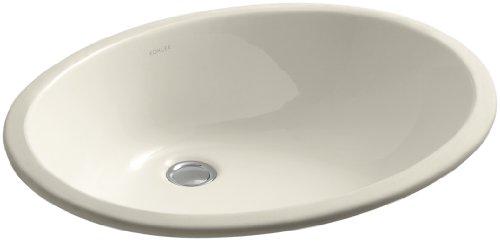Caxton Almond - KOHLER K-2211-47 Caxton Undercounter Bathroom Sink, Almond