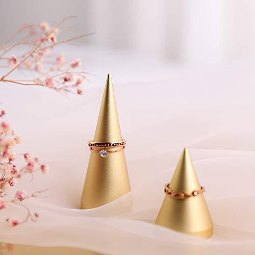 Soportes exhibicion de anillos altura 4.6cm y 7.9cm dorados