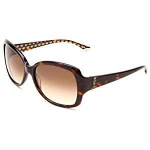 Juicy Couture Women's Juicy 503/S Rectangle Sunglasses,Brown Frame/Brown Gradient Lens,One Size