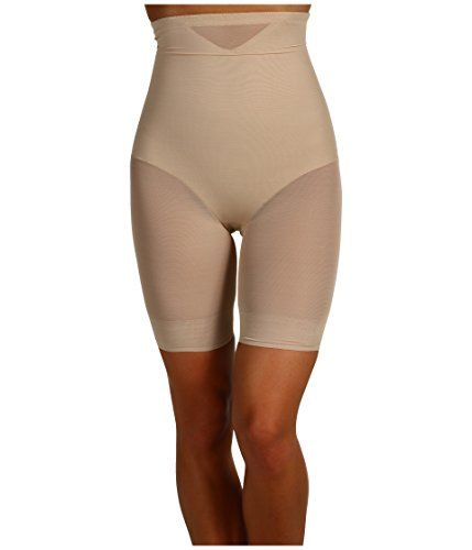Miraclesuit Shapewear Women's Extra Firm Sexy Sheer Shaping Hi-Waist Thigh Slimmer Nude XX-Large ()