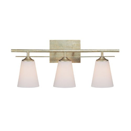 Capital Lighting 1738WG-122 Vanity with Soft White Glass Shades, Winter Gold Finish ()