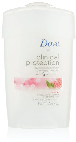 Dove protection clinique antisudorifique / désodorisant, Revive, 1,7 onces bâton (Pack de 2)