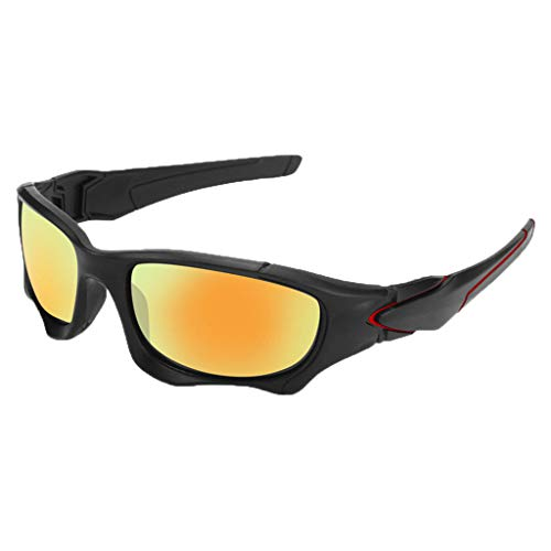 Halfbye Polarized Designer Fashion Sports Sunglasses for Baseball Cycling Fishing Golf Superlight Frame UV400