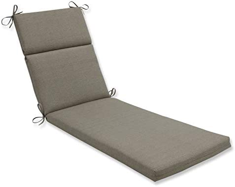 Amazon Com Pillow Perfect Outdoor Indoor Monti Chino Chaise Lounge Cushion 72 5 In L X 21 In W X 3 In D Solid Taupe Home Kitchen