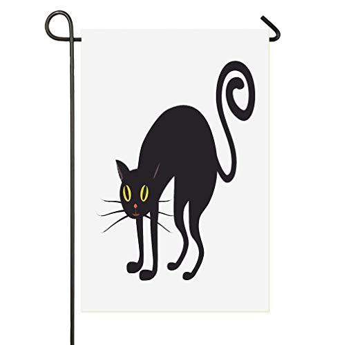 AnleyGardeflagsU Silinana Halloween Black Cat Sweet Home Home Garden Flag Spring Summer Yard Outdoor Decorative ()