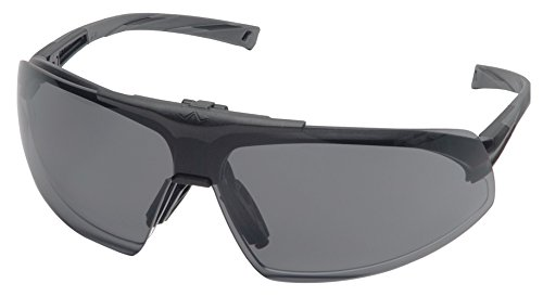 (Pyramex Onix Plus Safety Eyewear, Clear Anti-Fog Lens Gray Flip Lens With Black Frame)