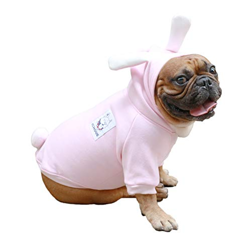 iChoue Rabbit Dog Costumes Hoodie Warm Coat