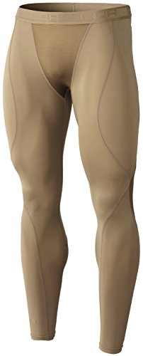 TSLA Men's (Pack of 1) Compression Pants Running Baselayer Cool Dry Sports Tights, Zero Tactical(tup109) - Tan, Small