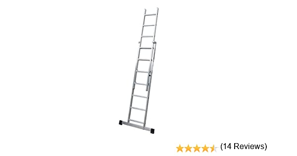 ALTIPESA Escalera Profesional de Aluminio de Apoyo Extensible con ...